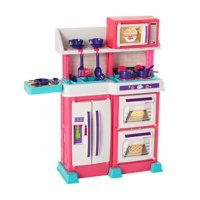 Spark. Create. Imagine. Play Kitchen with 18 Piece Accessory Play Set - Pink