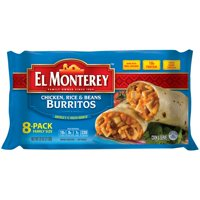 El Monterey Chicken, Rice and Beans Burritos, 8 Pack Family Size