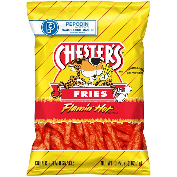 Chester's Flamin' Hot Fries Corn and Potato Snacks