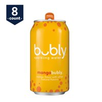 bubly Sparkling Water, Mango 12 oz Cans, 8 Count