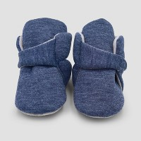Baby Boys' Constructed Bootie Slippers - Cloud Island™ Blue