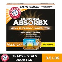 Arm & Hammer Clump & Seal AbsorbX Clumping Litter, MultiCat (Multiple Sizes)