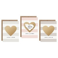 3ct Heart Shaped Family Scratch-off Greeting Cards
