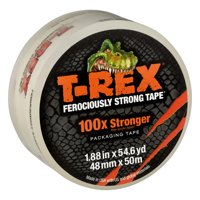 T-REX 1.88 In. x 54.6 Yd. Packing Tape Roll, Clear, 1-Count