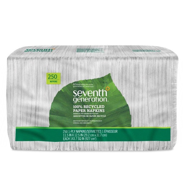 Seventh Generation Napkins 100% Recycled Paper, White