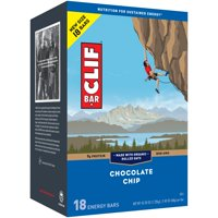 CLIF Bar Energy Bars, Chocolate Chip, 9g Protein Bar, 18 Ct, 2.4 oz