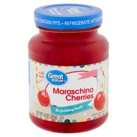 Great Value Maraschino Cherries with Stems, 10 Oz.
