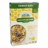 Cascadian Farm Cereal, Organic, Honey Oat Crunch, Family Size
