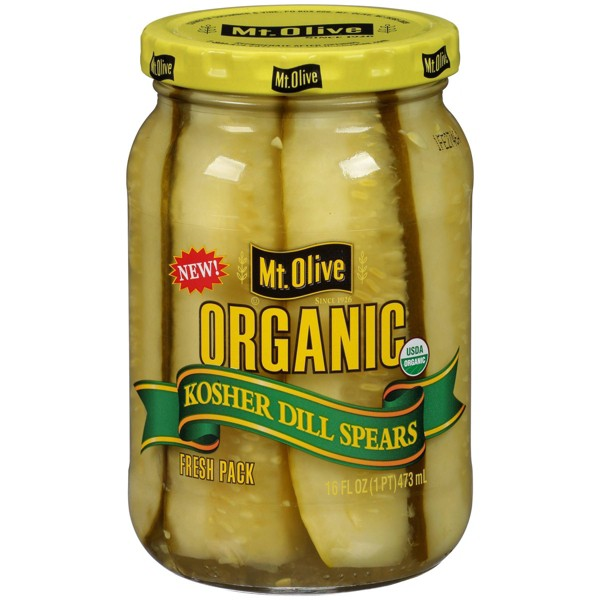 Mt. Olive Organic Kosher Dill Pickle Spears - 16 fl oz