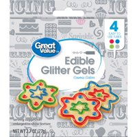 Great Value Edible Glitter Gels, Cosmic Colors, 4 Count