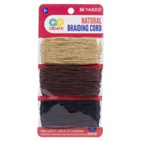 Go Create! Natural Brown & Black Braiding Cord, 1 Each