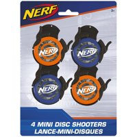 Mini Nerf Disc Shooter Party Favors, 4ct