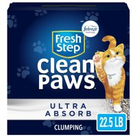 Fresh Step Clean Paws Ultra Absorb with the Power of Febreze, Clumping Cat Litter, 22.5 lbs