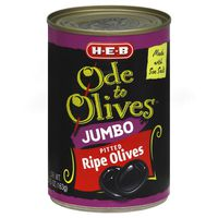 H-E-B Ode To Olives Jumbo Pitted Ripe Olives