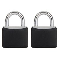 Hyper Tough 30mm Vinyl Covered Aluminum Padlock with 1/2 in. Shackle, 2 Pack