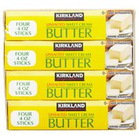 Kirkland Signature Unsalted Butter Quarters, 4 x 16 oz