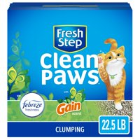 Fresh Step Clean Paws, Gain Scent with the Power of Febreze, Low-Tracking Clumping Cat Litter, 22.5 lbs