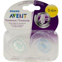 Avent Philips  Translucent Orthodontic Pacifiers
