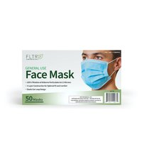 FLTR General Use Disposable Face Mask, Blue 50 ct