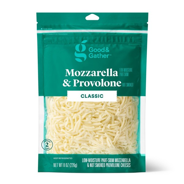 Shredded Mozzarella & Provolone Cheese - 8oz - Good & Gather™