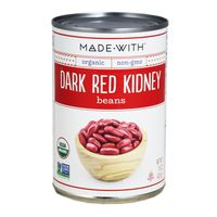 Made With. Organic Dark Red Kidney Beans