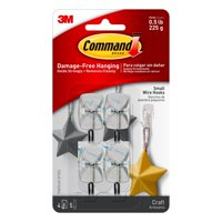 Command Small Clear Utensil Hooks with Clear Strips Pack, 9 Piece