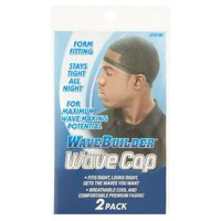 WaveBuilder Wave Cap, Black, 2 Count