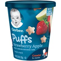 Gerber Puffs Strawberry Snack Cup, 0.70 oz. Tub