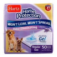 Hartz Home Protection Lavender Scent Odor-Eliminating Dog Pads, 21 in x 21 in, 50 Count