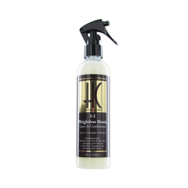Haircredible 3-In-1 Weightless Biotin Leave-In Hair Conditioner - 8 fl oz