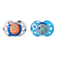 Tommee Tippee Closer to Nature Night Time Pacifier, 18-36 months - 2ct (Colors May Vary)