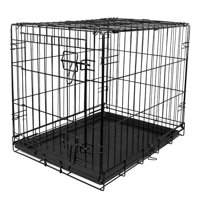 "Vibrant Life Dog Folding Crate, 24"" Single Door Kennel with Divider (ONLINE ONLY PRICE)"