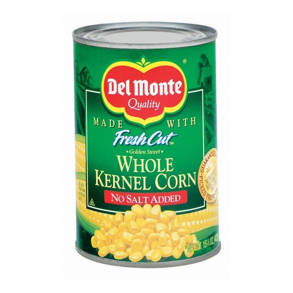 Del Monte Fresh Cut No Salt Added Golden Sweet Whole Kernel Corn 15.25 oz