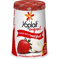Yoplait Original Strawberry Banana Low-Fat Yogurt, 6 Oz.