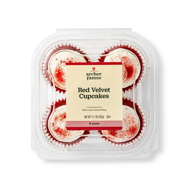 Red Velvet Cupcake With Cream Cheese Filling - 4ct - Archer Farms™
