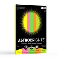 "Astrobrights Colored Cardstock, 8.5"" x 11"", 65 lb/176 gsm, ""Neon"" 5-Color Assotment, 50 Sheets"