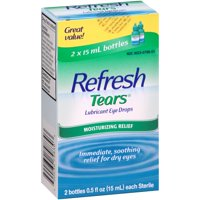 Refresh Lubricant Eye Drops Value Size Refresh Tears, 0.5 oz bottles, 2 Pk