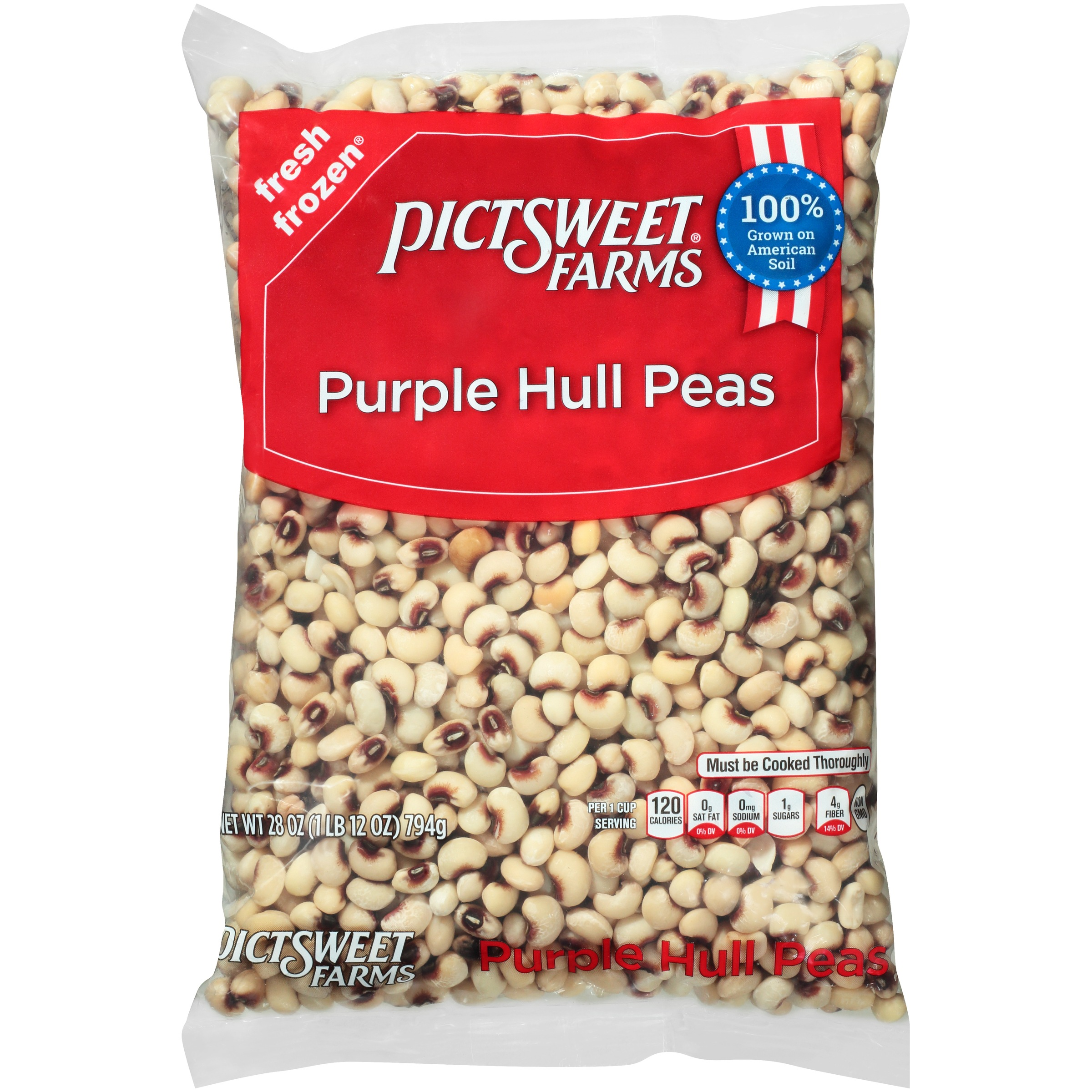 Pictsweet Farms® Purple Hull Peas 28 oz. Bag