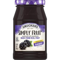 Smucker's Simply Fruit Seedless Blackberry Spread, 10-Ounce