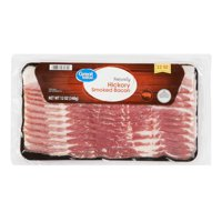 Great Value Bacon, Naturally Hickory Smoked, 12 oz