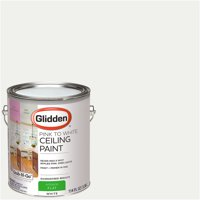 Glidden Ceiling Paint, Grab-N-Go, Pink to White, Flat Finish, 1 Gallon