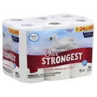 Signature Bathroom Tissue, Our Strongest Ultra Premium, Double Rolls, Two-Ply