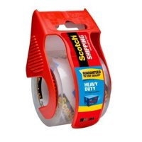 """3M Scotch 1.88""""x22.2 Yd. Heavy Duty Shipping Packaging Tape with Dispenser"""