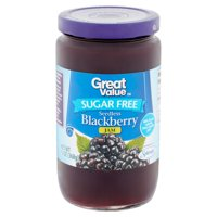 Great Value Sugar-Free Jam, Seedless Blackberry, 13 oz