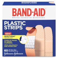 Band-Aid Brand Plastic Strips Adhesive Bandages, All One Size, 60 ct