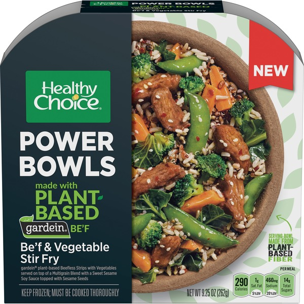 Healthy Choice Power Bowl Gardein Be'f And Vegetable Stir Fry