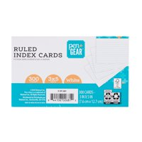 Pen + Gear Ruled Index Cards, White, 300 Count