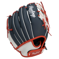 """Rawlings Players Series 11"""" Youth Baseball/T-Ball Glove, Red/White/Blue, Right Hand Throw"""