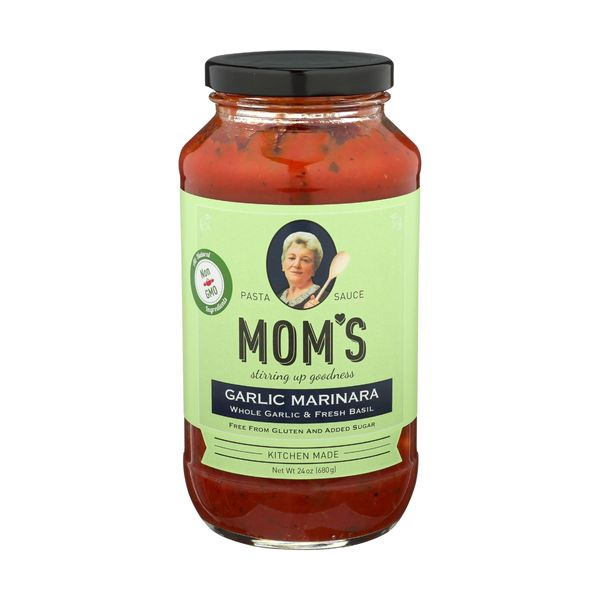 Mom's Pasta Sauce Garlic Marinara, 24 oz