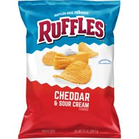 Ruffles Potato Chips, Cheddar and Sour Cream, 8.5 oz Bag